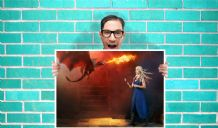 Game of Thrones Daenery Dragon Art - Wall Art Print Poster Any Size - TV Art Geekery